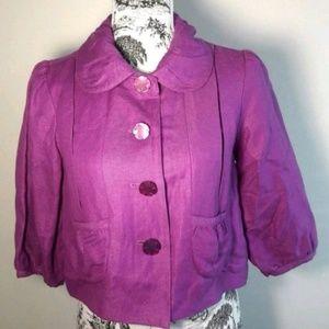 🦋 Chadwick's Collection Linen Blend Jacket Sz 6P